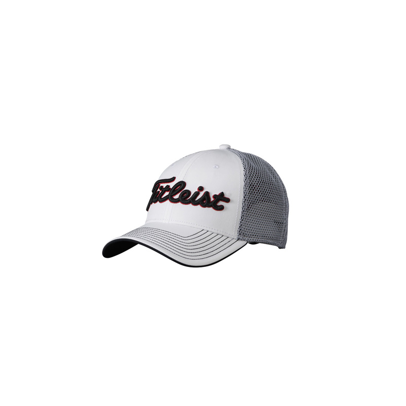 4fc1ca51abd Titleist Two Tone Mesh Hat White Black Red - Golfpuoti Oy